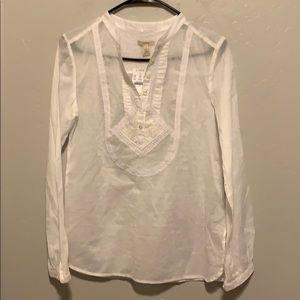 J Crew white button down blouse